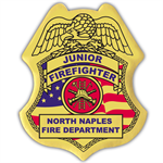 Junior Firefighter Stick On Badge, Patriotic