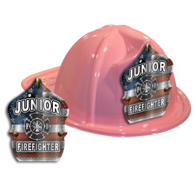 Pink Fire Hat w  Metallic Flag Shield d0d9c7ee2197