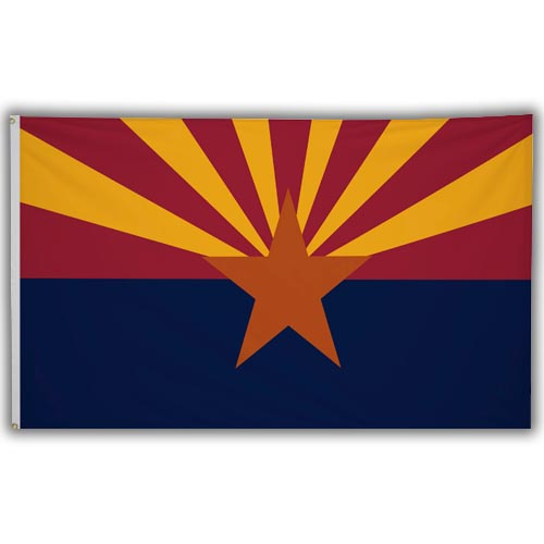 Stock 3' X 5 ' Arizona Flag
