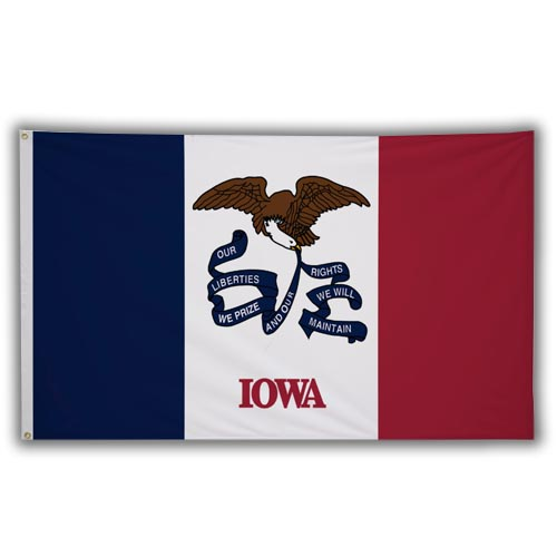 Stock 3' X 5 ' Iowa Flag
