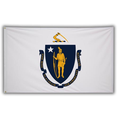 Stock 3' X 5 ' Massachusetts Flag