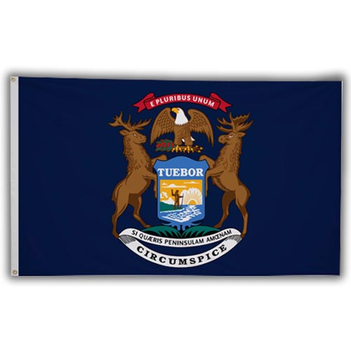 Stock 3' X 5 ' Michigan Flag