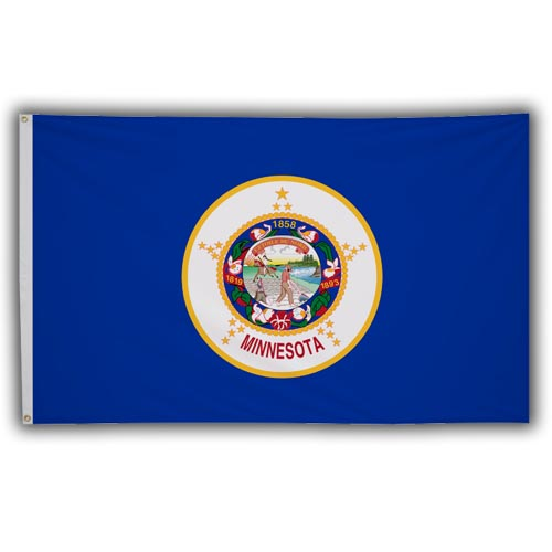 Stock 3' X 5 ' Minnesota Flag