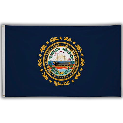 Stock 3' X 5 ' New Hampshire Flag