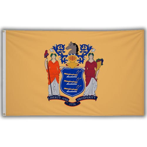 Stock 3' X 5 ' New Jersey Flag