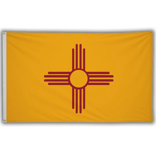 Stock 3' X 5 ' New Mexico Flag