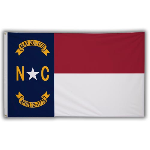 Stock 3' X 5 ' North Carolina Flag