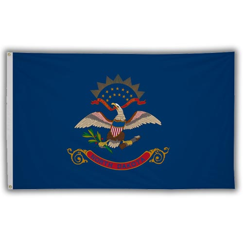 Stock 3' X 5 ' North Dakota Flag