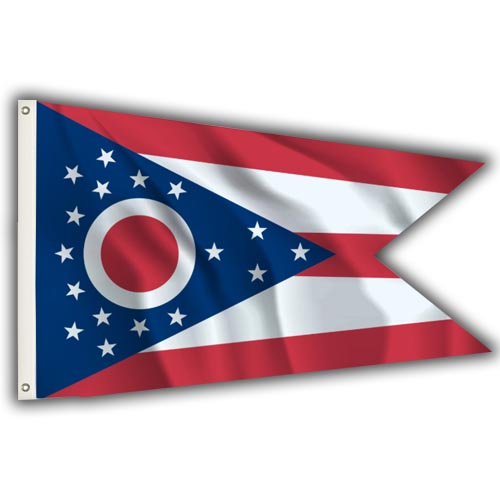 Stock 3' X 5 ' Ohio Flag