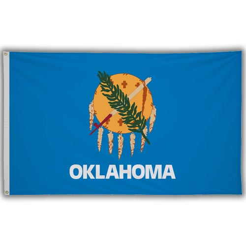 Stock 3' X 5 ' Oklahoma Flag