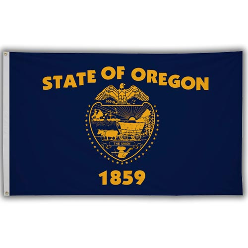 Stock 3' X 5 ' Oregon Flag