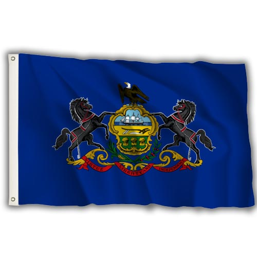 Stock 3' X 5 ' Pennsylvania Flag