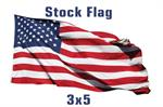 Stock 3' X 5 ' Pole American Flag