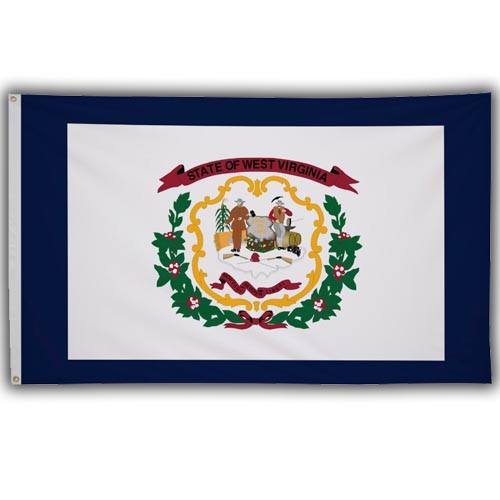 Stock 3' X 5 ' West Virginia Flag