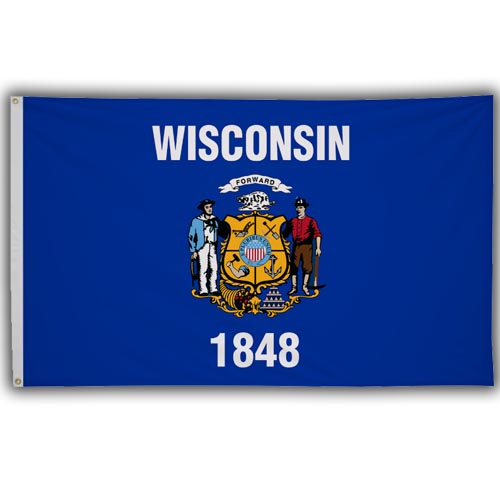 Stock 3' X 5 ' Wisconsin Flag