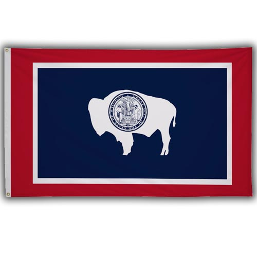 Stock 3' X 5 ' Wyoming Flag