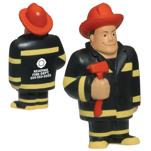 Tall Firefighter Stress Reliever w/ Red Axe